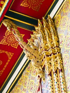 Free Antique Artwork Siam Design At Wat Ratchabophit Royalty Free Stock Photography - 21295277