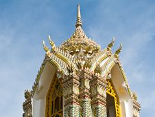 Free Pagoda At Wat Ratchabophit , Bangkok Thailand Royalty Free Stock Images - 21295339