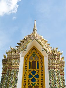 Free Pagoda At Ratchabophit Temple , Thailand Stock Photography - 21295352