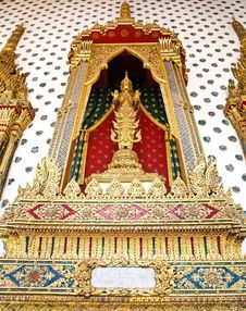 Thai Style God (Deva) Golden Statue Stock Image