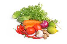 Colorful Fresh Vegetables White Background Royalty Free Stock Photo