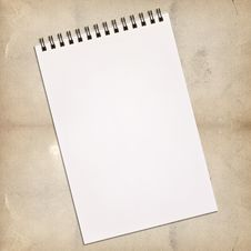 Free White Notebook For Painting Royalty Free Stock Photography - 21295857