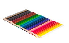 Set Of Color Pencils Stock Photos