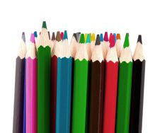 Free Set Of Color Pencils Royalty Free Stock Image - 21295896