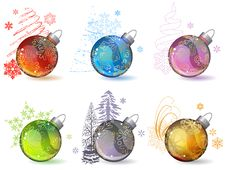 Free Different Christmas Glass Balls Royalty Free Stock Photography - 21295937