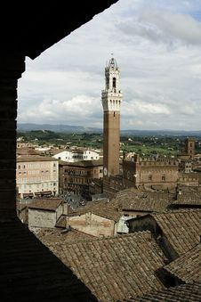 Free Bell Tower In Siena Stock Photography - 21296082