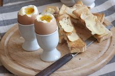 Free Eggs With Toast Royalty Free Stock Photography - 21296147