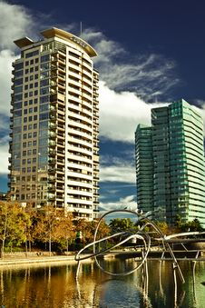 Free Two Buildings On The Shore Royalty Free Stock Images - 21296339