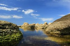 Free Stones On The Water 2 Stock Photography - 21296452