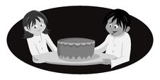 Free Chef S Cake Grayscale Royalty Free Stock Images - 21297459