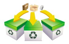 Free Recycle Boxes Stock Image - 21297531