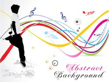 Free Abstract Musical Wave Background Stock Image - 21297571