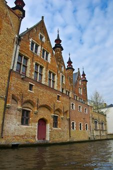Classic View Of Channels Of Bruges Royalty Free Stock Photography