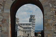 The Piazza Dei Miracoli, Pisa, Tuscany, Italy Stock Photography