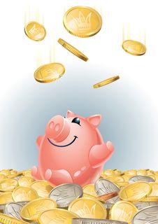 Free Happy_piggy_bank Royalty Free Stock Photos - 21298148