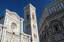 The Duomo, Campanile And Baptistry Royalty Free Stock Photo