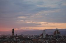 Free Sunset View Of Florence Royalty Free Stock Images - 21298369