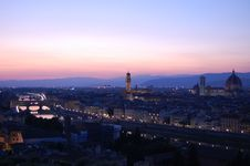 Free Sunset View Of Florence Stock Photo - 21298380