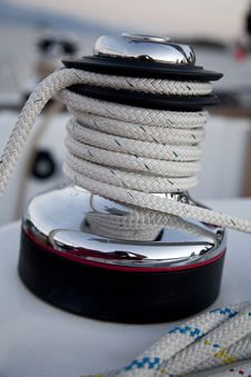 Free Winch On The Sailboat Royalty Free Stock Images - 21298499