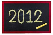 Free 2012 Blackboard Royalty Free Stock Photos - 21298948