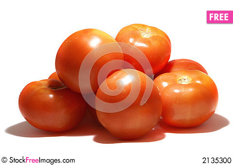 Free Tomatoes Isolated On White Stock Photo - 2135300