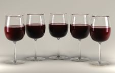 Free Red Wine Glass Royalty Free Stock Photography - 2130287