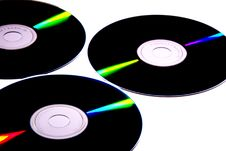 Free Few Compact Discs Royalty Free Stock Image - 2131666