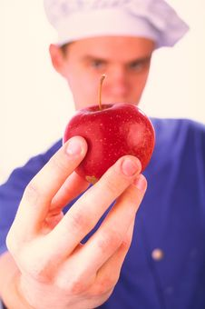 Free Red Apple In A Hand Stock Photo - 2132790