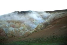 Free Steaming Volcanic Landscape Royalty Free Stock Image - 2132986