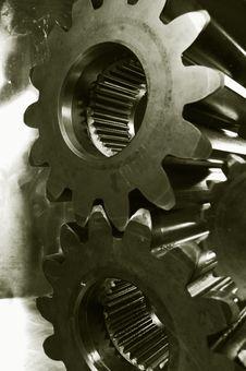 Free Gears In Metallic Bronze-cast Royalty Free Stock Photos - 2133558