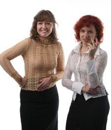 Free Two Businesswomen Royalty Free Stock Image - 2134096
