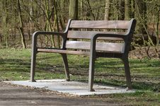 Free Empty Park Bench Stock Image - 2134221