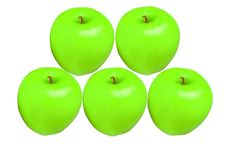 Free Apples Green Color Isolated Royalty Free Stock Images - 2134369