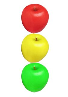 Free Apples Isolated Semaphore Stock Photography - 2134392