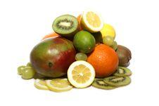Free Fruits Isolated On White Royalty Free Stock Photo - 2134615