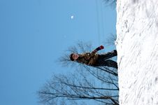 Free Boy Throwing Snowball Stock Images - 2134684