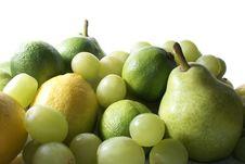 Free Green Fruits On White Royalty Free Stock Photo - 2134745