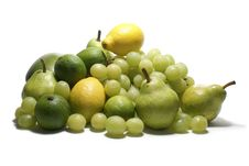 Free Green Fruits Isolated On White Royalty Free Stock Images - 2134869