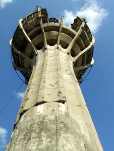 Free Destroyed TV Tower Royalty Free Stock Photography - 2135737
