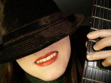 Free Hat&guitar1 Stock Photo - 2136020