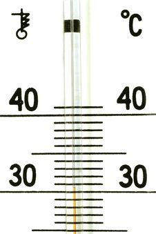 The Termometer Royalty Free Stock Photography