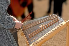 Playing The Dulcimer Stock Images