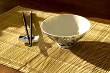 Free Chinease Bowl And Chopsticks Stock Photos - 2137923