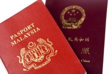 Free China And Malaysia Passport Royalty Free Stock Image - 2137976