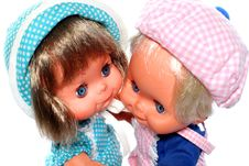 2 Happy Dolls Dancing 2 Royalty Free Stock Photo