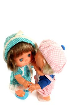 Free 2 Happy Dolls Dancing 3 Stock Photos - 2138263