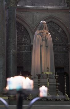 Virgin Mary Statue In Church W Royalty Free Stock Photos