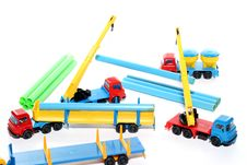 Toy Construction Works 7 Royalty Free Stock Image