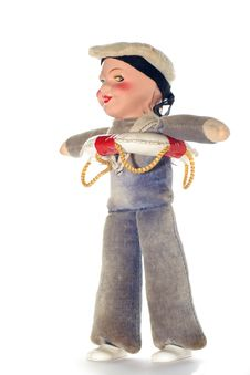 Free Old Sailor Cloth Doll 1 Stock Image - 2138561