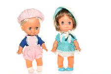 Free Happy Boy And Girl Doll Stock Photo - 2138760